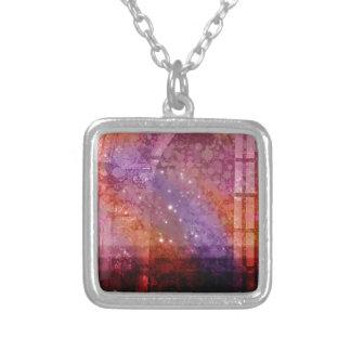 Spectre Burn Square Pendant Necklace