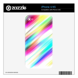 SPECTRUM ( a rainbow colored delight!) ~ Decal For iPhone 4