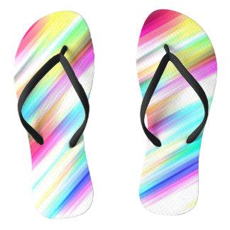 SPECTRUM ( a rainbow colored delight!) ~ Flip Flops