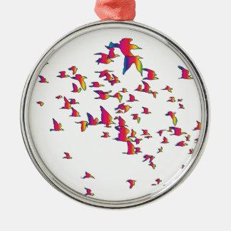 Spectrum Birds Metal Ornament