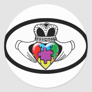 Spectrum Claddagh Classic Round Sticker