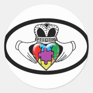 Spectrum Claddagh Classic Round Sticker