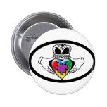 Spectrum Claddagh Pinback Button
