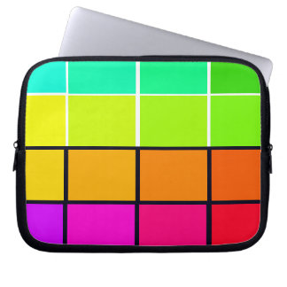 Spectrum Colorful 6 Zippered Soft Laptop iPad Case Computer Sleeves