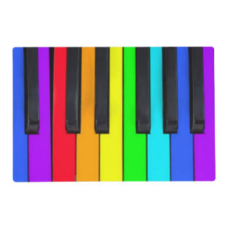 Spectrum Colors Piano Keyboard Placemat
