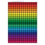 Spectrum Cubes Greeting Card