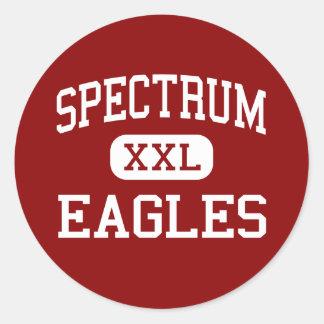Spectrum - Eagles - Senior - Stuart Florida Round Stickers