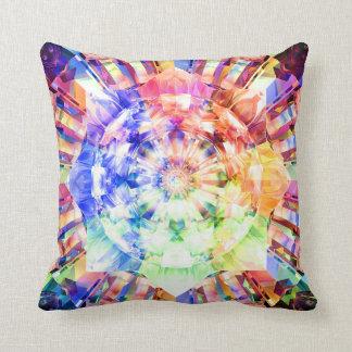 Spectrum Fractal Throw Pillow