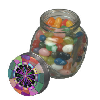 Spectrum Mélange Glass Candy Jar w/Tin Top & Jelly