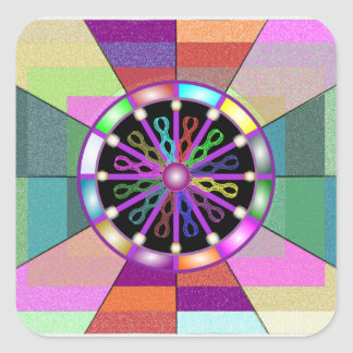 Spectrum Mélange Stickers-20 per sheet Square Sticker