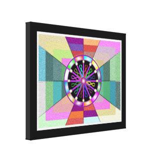 Spectrum Mélange Stretched Wrapped Canvas Print