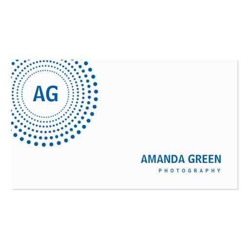 Spectrum Monogram Business Card (Blue) Business Card