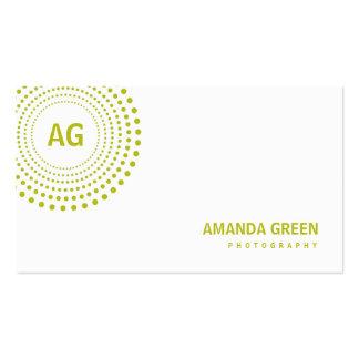 Spectrum Monogram Business Card (Lime)