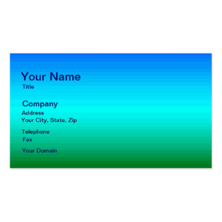 Spectrum of Horizontal Colors - 2 Business Cards