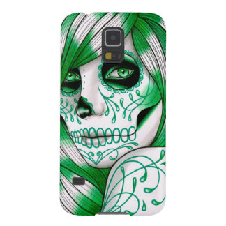 Spectrum Series- Green Day of the Dead Girl Case For Galaxy S5