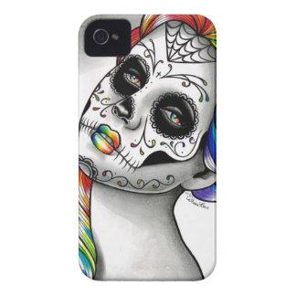 Spectrum Series - Rainbow Sugar Skull Girl Case-Mate iPhone 4 Case