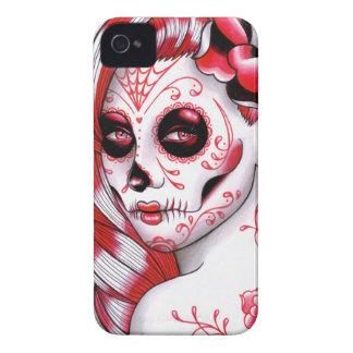 Spectrum Series - Red Sugar Skull Girl iPhone 4 Case