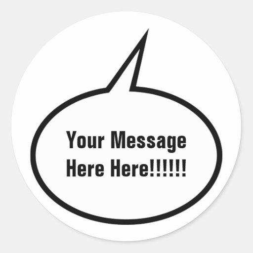 Speech Balloon Classic Round Sticker