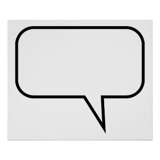 Speech Balloon Poster
