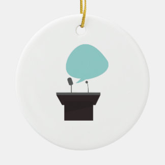 Speech_Base Double-Sided Ceramic Round Christmas Ornament