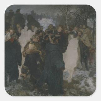 Speech before the Battle of Leuthen, 1858 Square Sticker