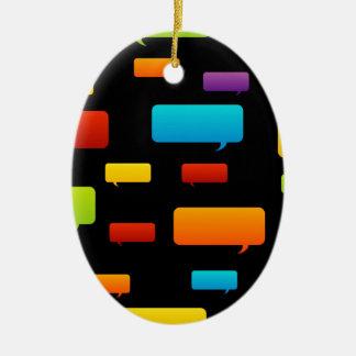 speech bubble background ceramic ornament