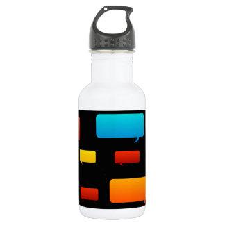 speech bubble background water bottle