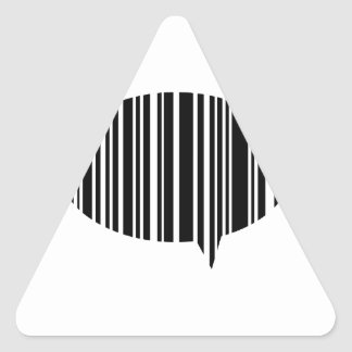 Speech bubble bar code triangle sticker