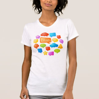 speech bubble blah shirt
