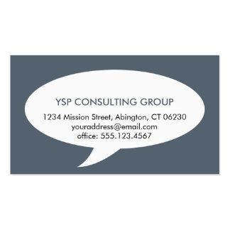 Speech bubble blue creative network professional Double-Sided standard business cards (Pack of 100)