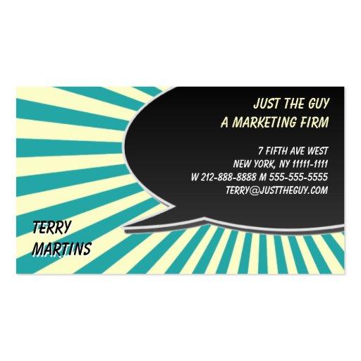 Speech Bubble Burst Business Card Templates