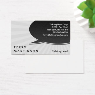 Speech Bubble Burst Business Card