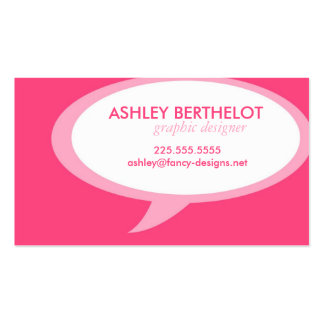 Speech Bubble Business Card