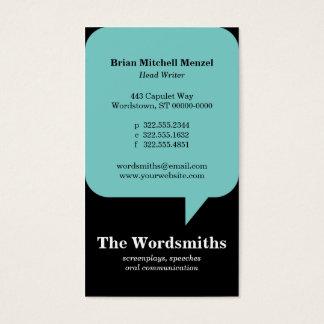 Speech Bubble Business Card
