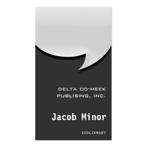 Speech Bubble Card [3d] Business Card