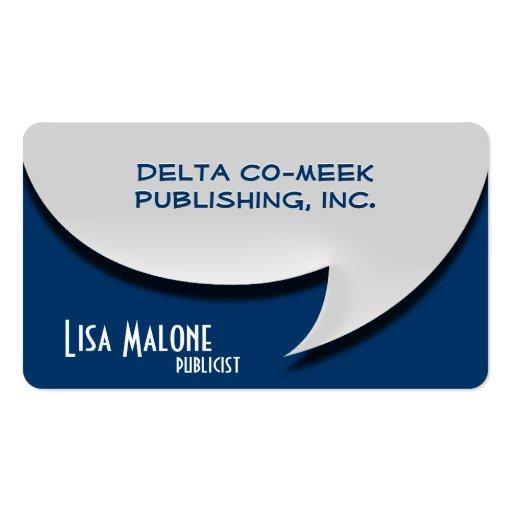 Speech Bubble Card [3d] Business Card Templates