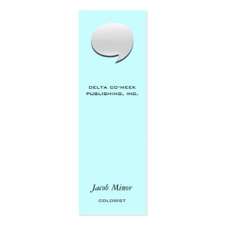 Speech Bubble Card [3d] Mini Business Card