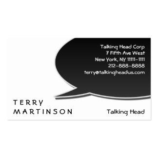 Speech Bubble Card Double-Sided Standard Business Cards (Pack Of 100)