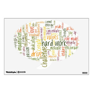 Speech Bubble Decal - Motivational Words #2 Room Graphics