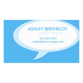 Speech Bubble Double-Sided Standard Business Cards (Pack Of 100)