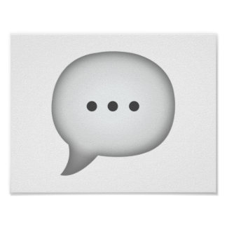 Speech Bubble - Emoji Poster