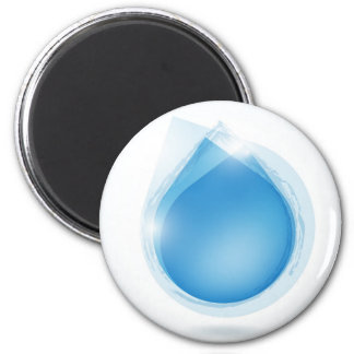 speech bubble from blue water drop 2 inch round magnet
