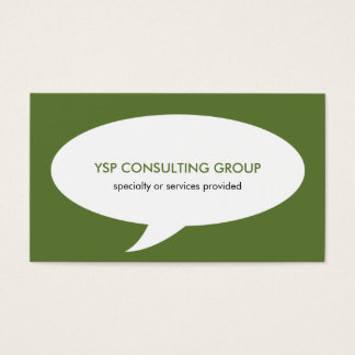 Speech bubble green creative network professional business card