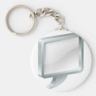 Speech bubble keychain