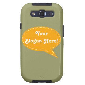 Speech Bubble (Orange) Galaxy SIII Cases