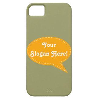 Speech Bubble (Orange) iPhone 5 Case