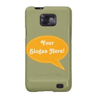 Speech Bubble (Orange) Samsung Galaxy S2 Cover