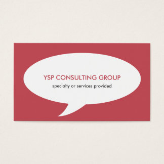 Speech bubble red creative network professional business card