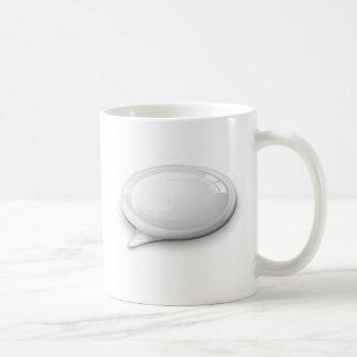 Speech bubble white and glossy coffee mug