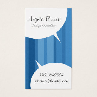 Speech Bubbles Blue Business Card